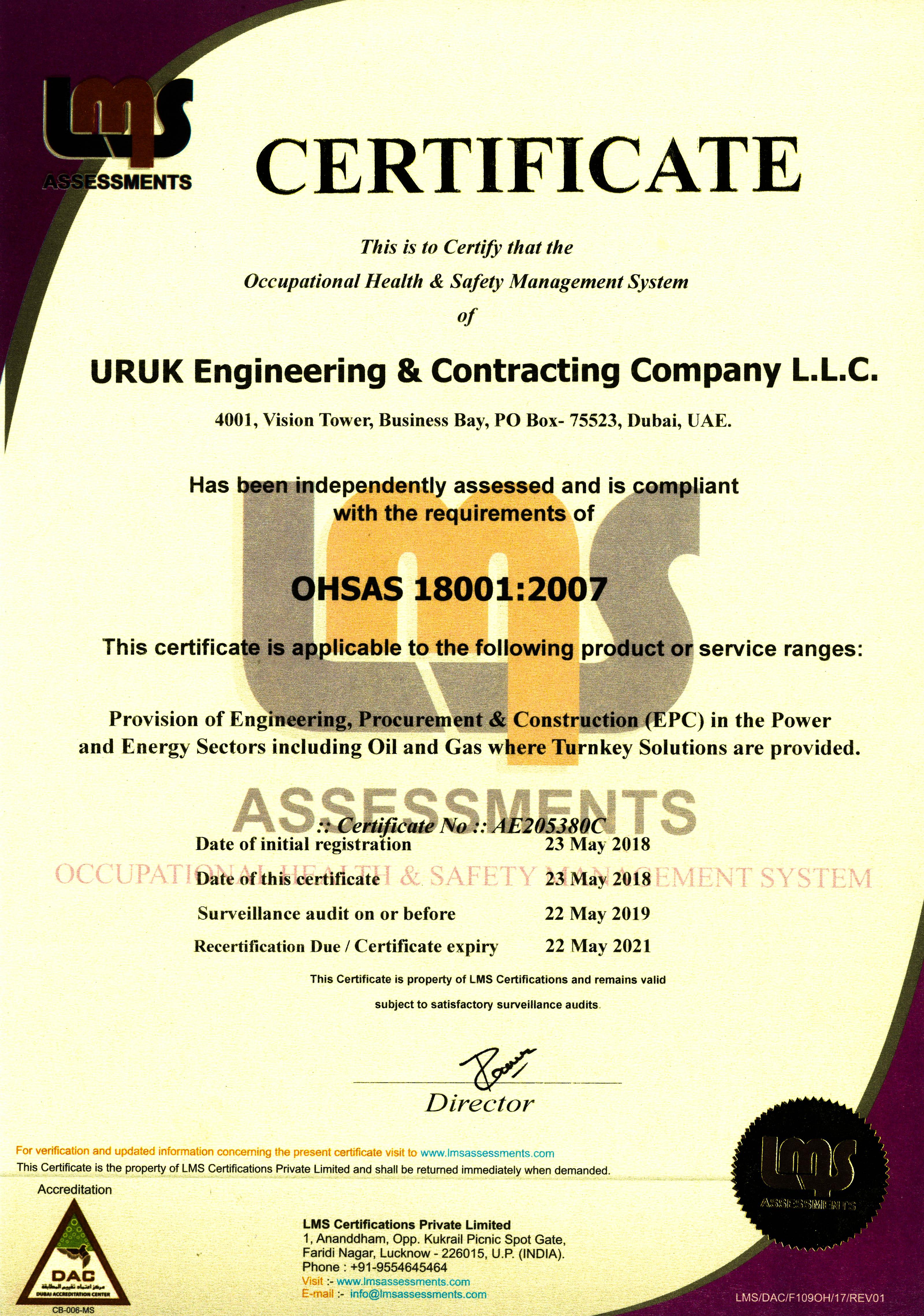 OHSAS 18008 2007